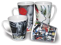 Latte kopper lagd med sublimering - http://www.themagictouch.se